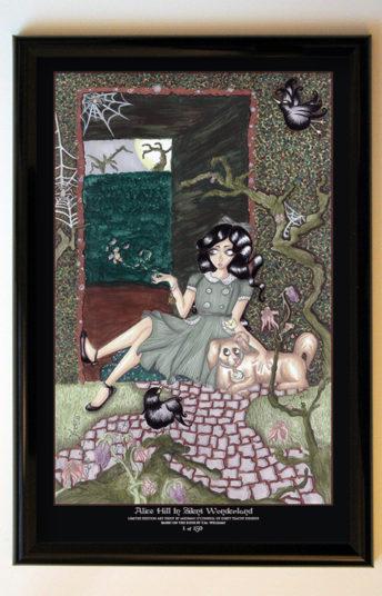 Alice Hill in Silent Wonderland 11x17 Black Frame