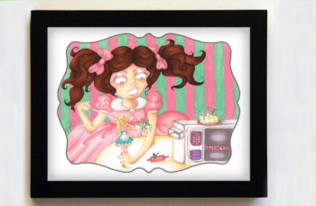 Easy-Bake Dissension Featuring Colette 8x10 Black Frame