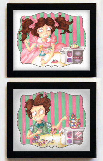 Easy-Bake Dissension Featuring Colin & Colette 8x10 Black Frames