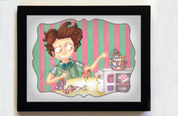 Easy-Bake Dissension Featuring Colin 8x10 Black Frame