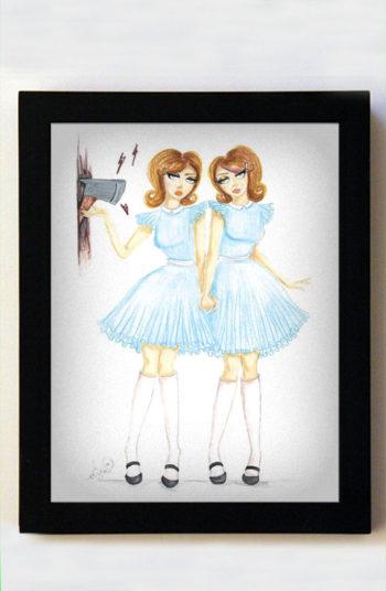 Grady Twins 8x10 Black Frame