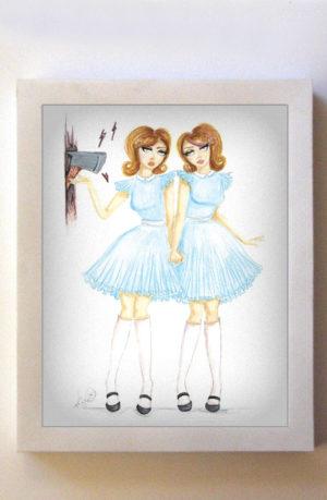 Grady Twins 8x10 White Frame