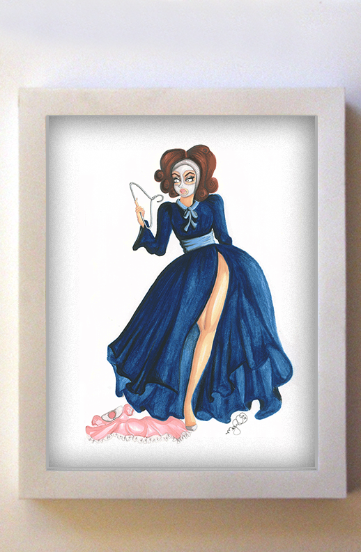 Mommie Dearest 8x10 White Frame