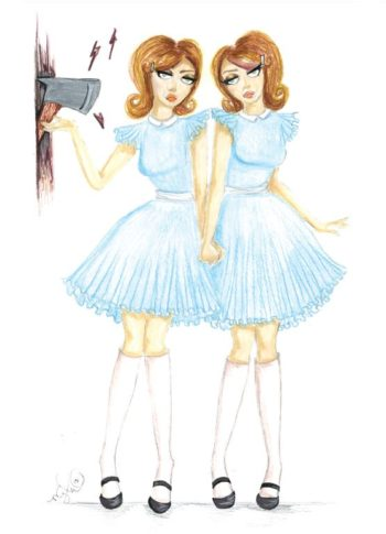 Grady Twins 5x7 Greeting Card - by Dirty Teacup Designs