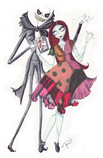 Jack and Sally - by Dirty Teacup Designs