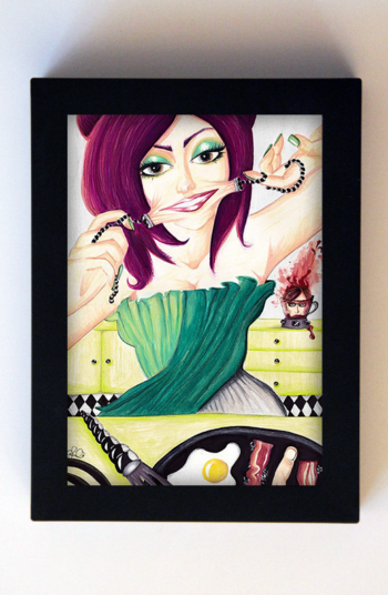Mathilda's Domestic Bliss 5x7 Black Frame