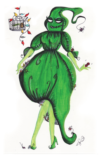 Mrs. Oogie Boogie - by Dirty Teacup Designs