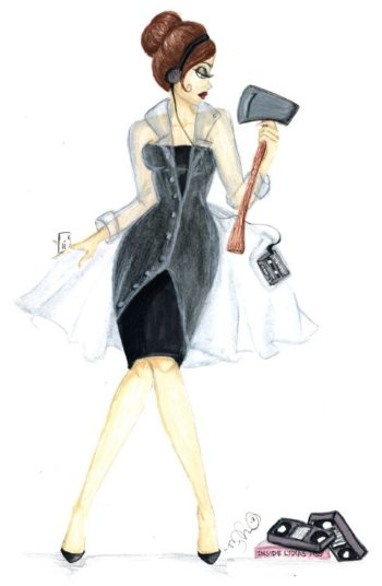 Patricia Bateman 5x7 Greeting Card - by Dirty Teacup Designs