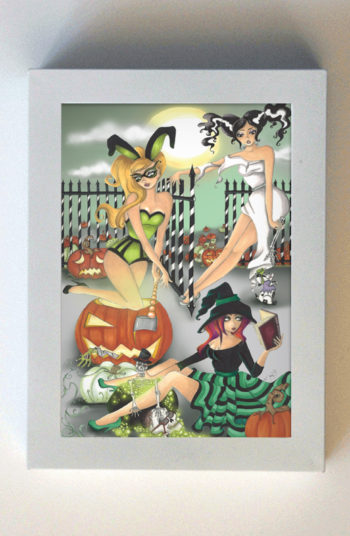A Domestic Bliss Hallows Eve 5x7 White Frame
