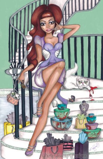 Viviana's Domestic Bliss 11x17 Art Print - by Dirty Teacup Designs