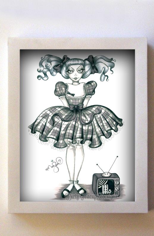 Talky Tina 8x10 White Frame