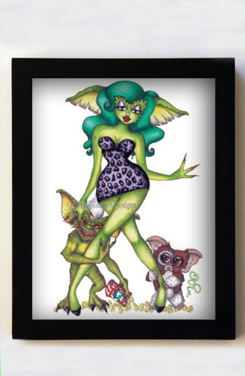 Greta Gremlin 8x10 Black Frame