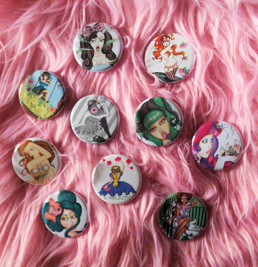 New Buttons by Dirty Teacup Designs
