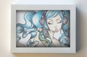 Music Is Your Only Friend 5x7 White Frame