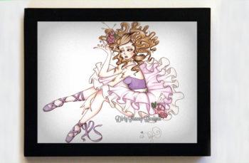 Clara the Broken Ballerina 8x10 Black Frame