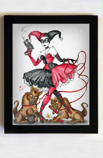 Harley Quinn 8x10 Black Frame