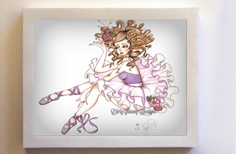 Clara the Broken Ballerina 8x10 White Frame