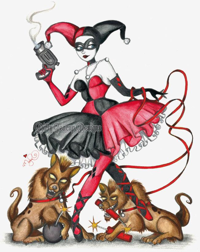 Harley Quinn - by Dirty Teacup Designs